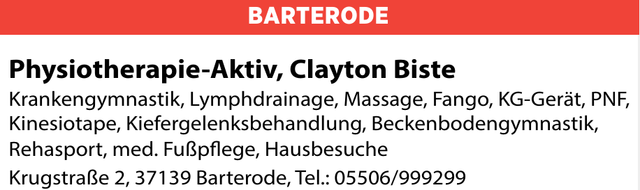 Physiotherapie-Aktiv, Clayton Biste