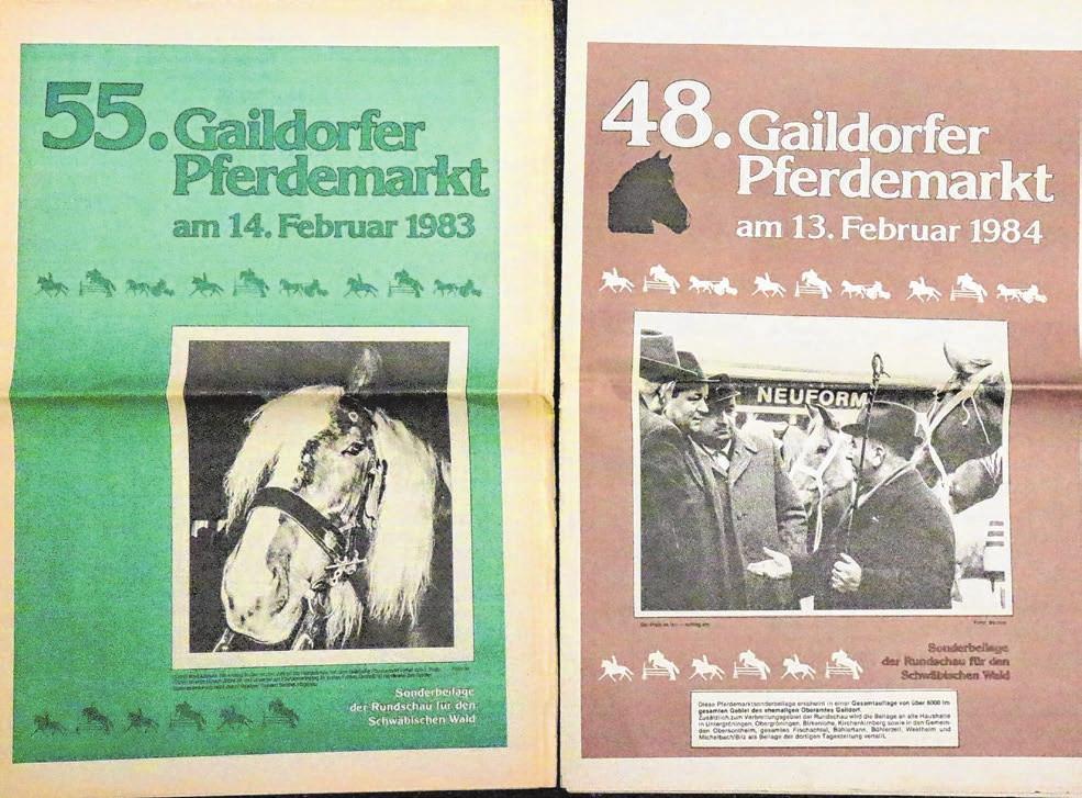 Auf den 55. Gaildorfer Pferdemarkt im Februar 1983 folgte der 48. Gaildorfer Pferdemarkt im Februar 1984.