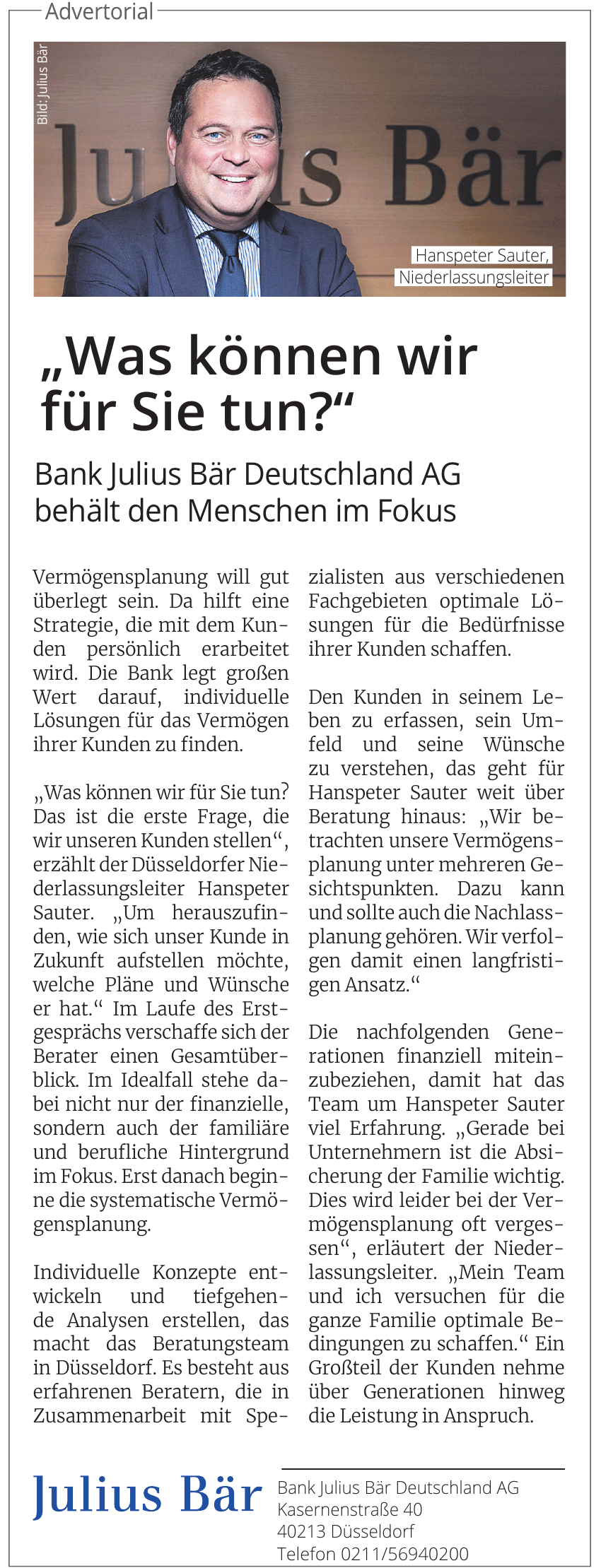 Bank Julius Bär Deutschland AG