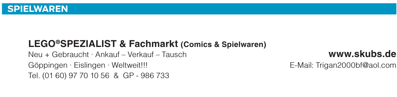 Lego Spezialist & Fachmarkt (Comics & Spielwaren)