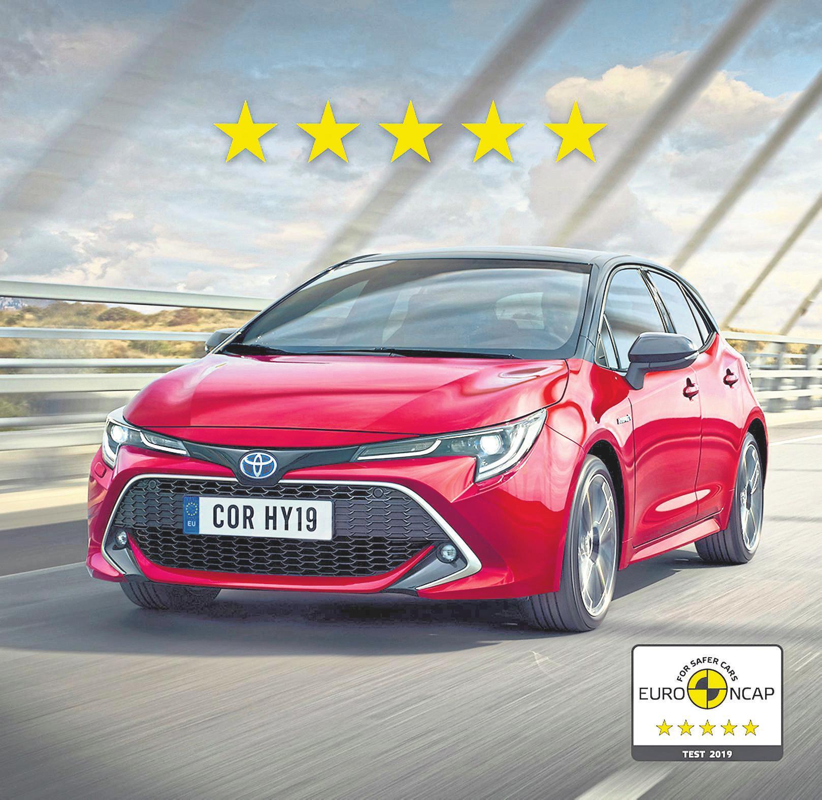 Der Toyota Corolla erhielt 2019 fünf Sterne im Euro NCAP Crashtest.
