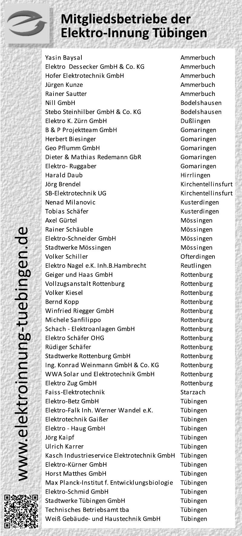 Elektroinnung Tübingen