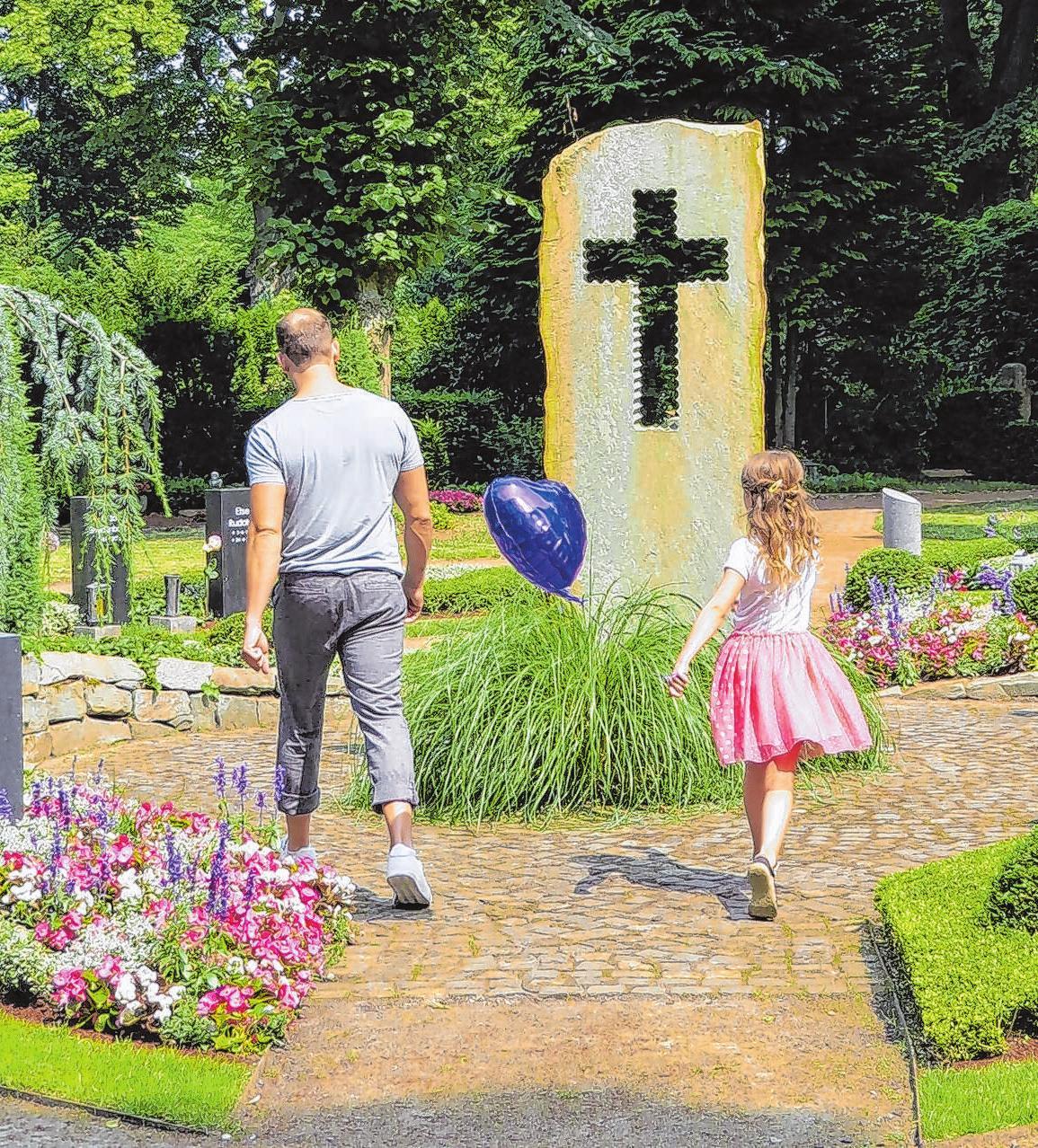Orte der Trauer, aber auch Orte der Begegnung und Erholung: Friedhöfe verstehen sich zunehmend als grüner Kulturraum ihrer Gemeinde.