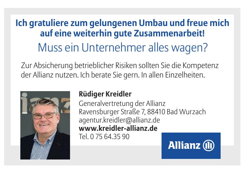 Rüdiger Kreidler, Generalvertretung der Allianz