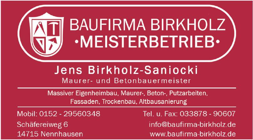 Baufirma Birkholz