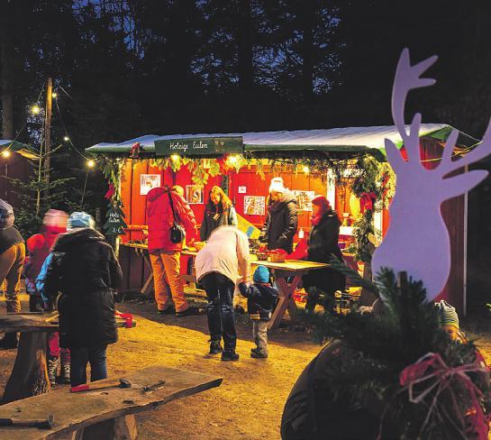 Wenn in Trappenkamp Waldweihnacht veranstaltet wird, gibt es viele Bastelaktionen an den Ständen