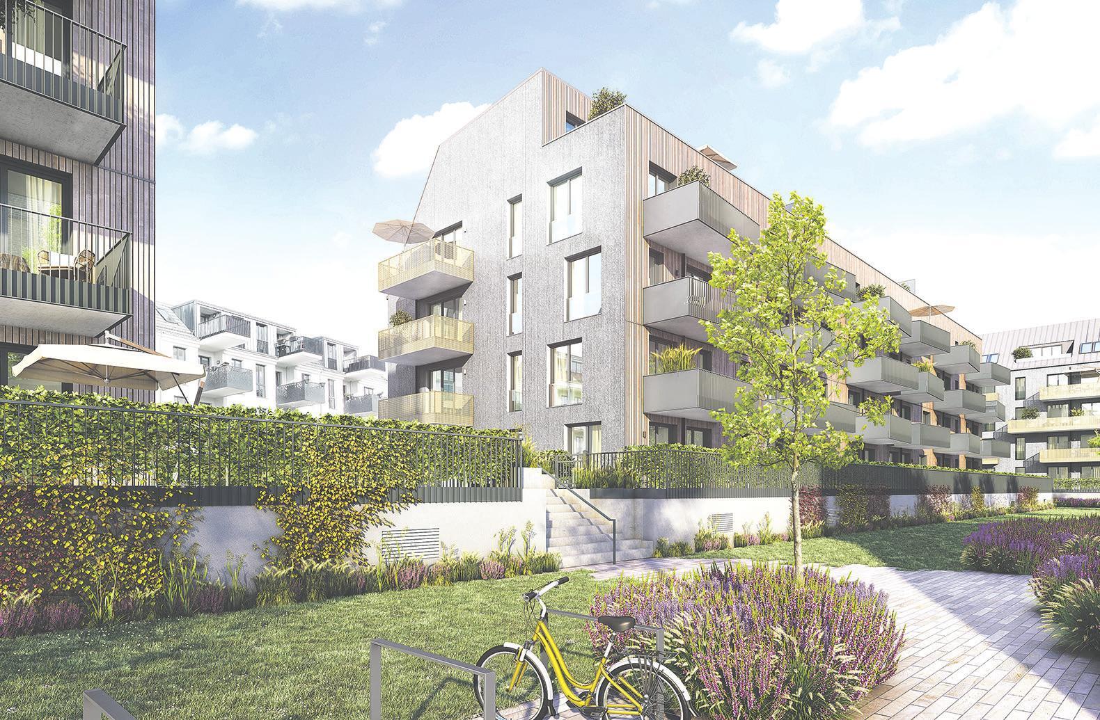 Ökologisch, ökonomisch und sozial orientiert: Das nachhaltige Quartier 52° Nord in Berlin-Grünau bekommt einen neuen Bauabschnitt Visualisierung: BUWOG