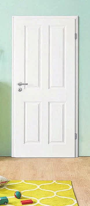Eine weiße Innentür besticht durch zeitlose Eleganz.    FOTO: HLC/GESAMTVERBAND DEUTSCHER  HOLZHANDEL/MOSELTÜREN/EKEGANCE  04