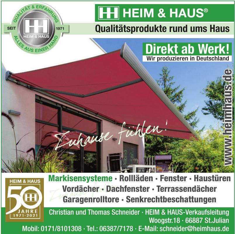 HEIM & HAUS-Verkaufsleitung
