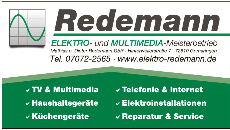 Redemann Elektro- und Multimedia-Meisterbetrieb