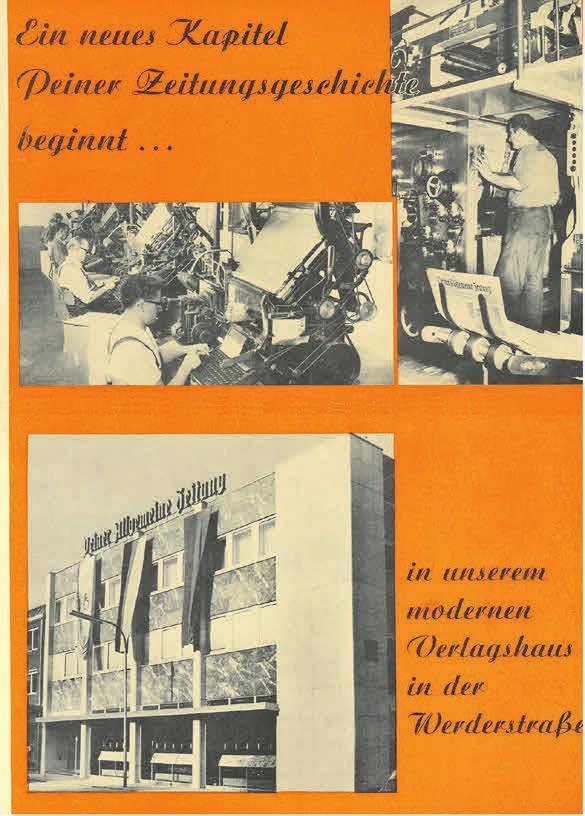 Die Einweihung des neuen PAZ-Gebäudes fand am 12. Oktober 1969 statt. Am Sonnabend, 11. Oktober 1969, enthielt die PAZ eine Beilage mit diesem Titelblatt. Quelle: Stadtarchiv