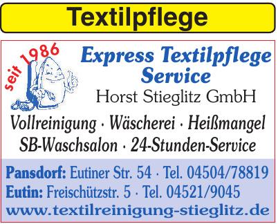 Express Textilpflege Service Horst Stieglitz GmbH