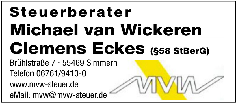 Steuerberater Michael van Wickeren