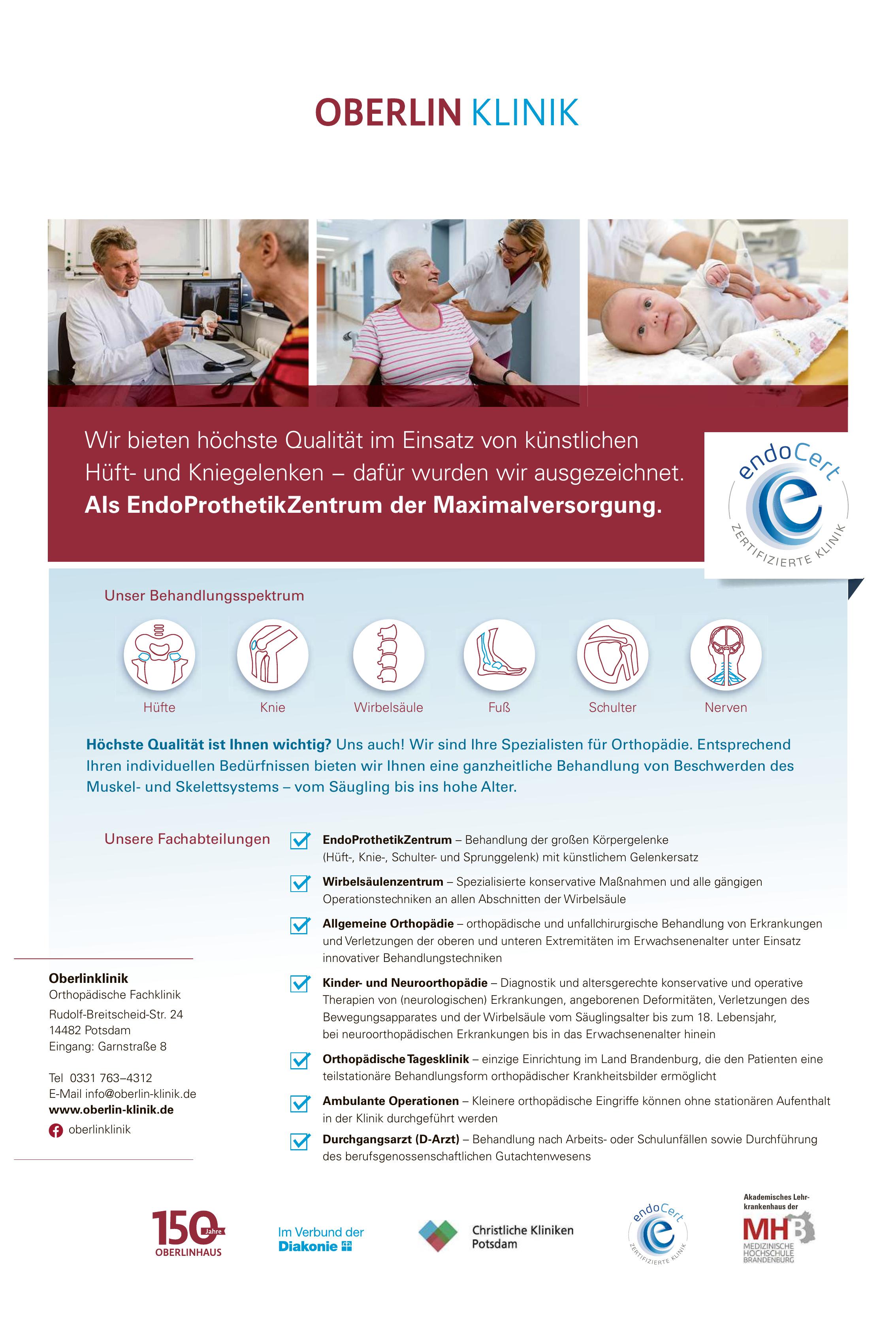 Oberlinklinik Orthopädische Fachklinik
