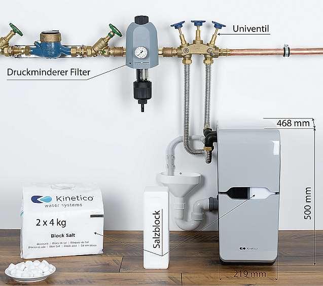 Stromlose Weichwasseranlagen sind nicht nur platzsparend, sondern senken auch die Energiekosten. FOTO: CHRISTIANE MUENSTER
