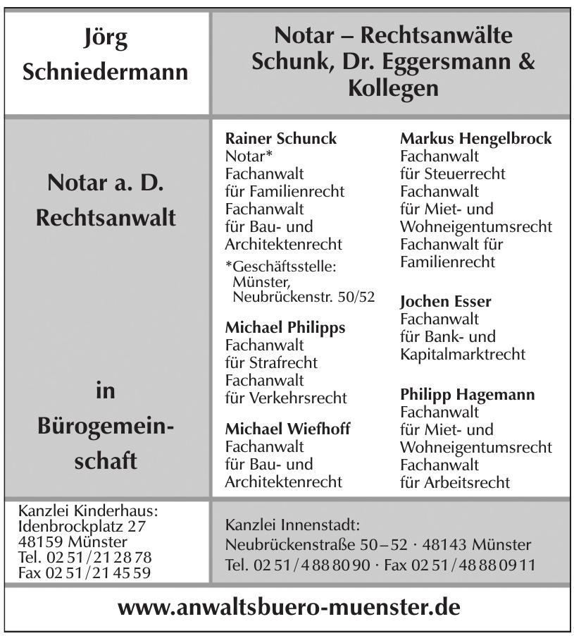 Notar – Rechtsanwälte Schunk, Dr. Eggersmann & Kollegen