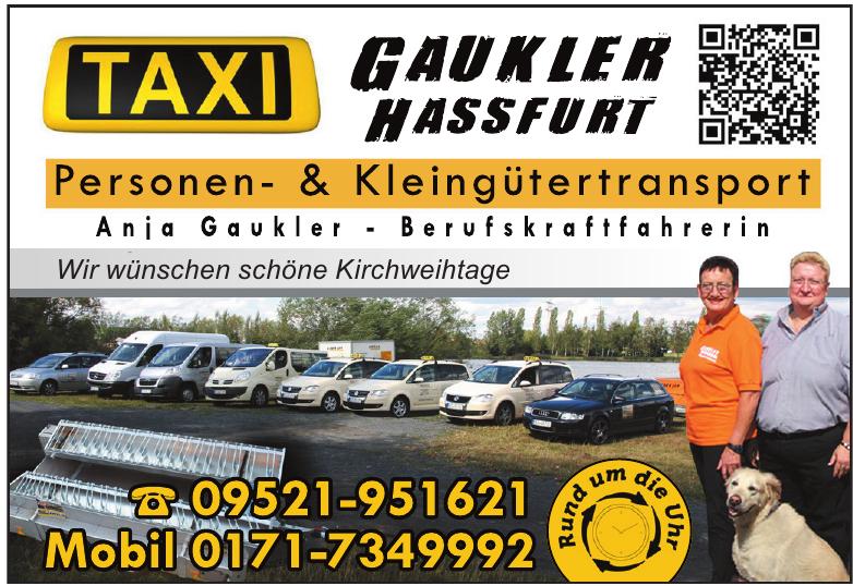 Taxi Gaukler Hassfurt