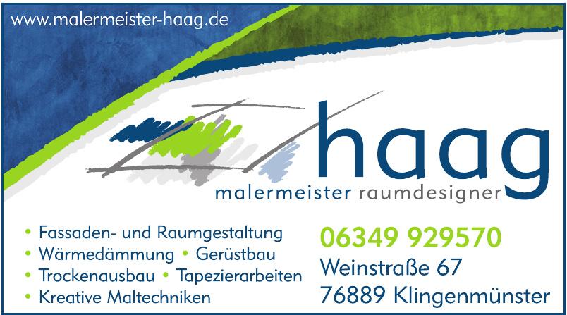 Malermeister Andreas Haag