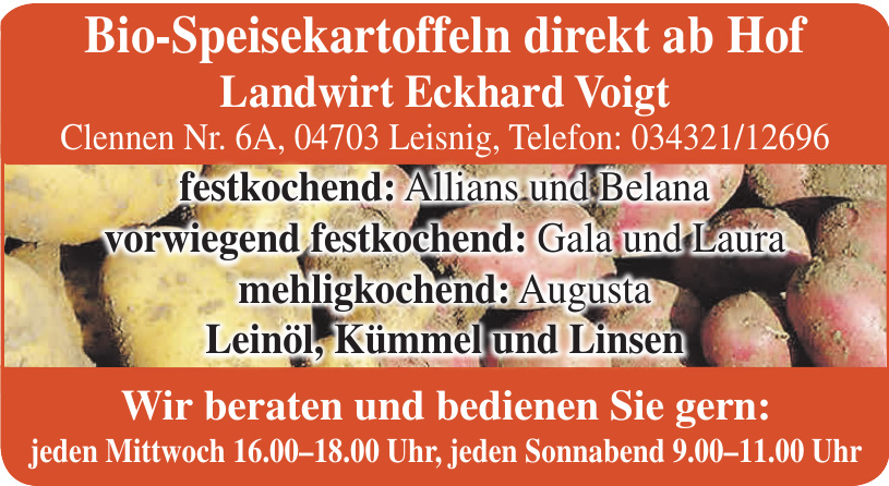 Landwirt Eckhard Voigt