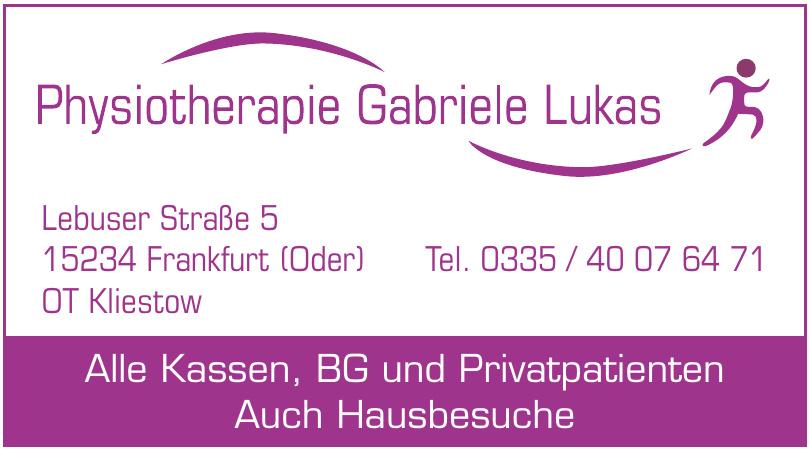Physiotherapiepraxis Gabriele Lukas
