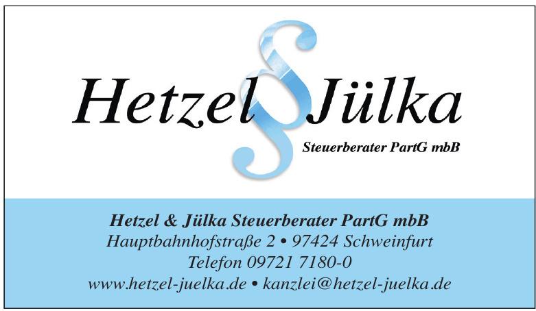 Hetzel Jülka Steuerberater PartG mbB