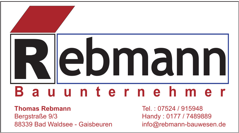 Thomas Rebmann Bauunternehmer