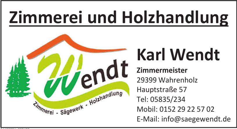 Karl Wendt Zimmermeister