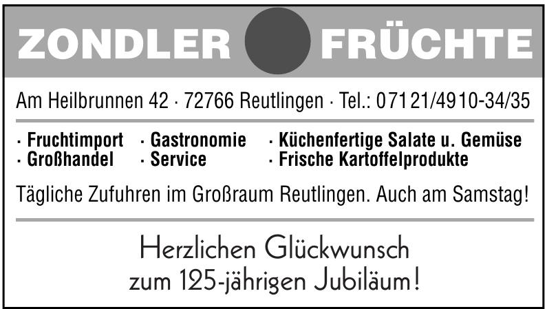 Zondler Früchte