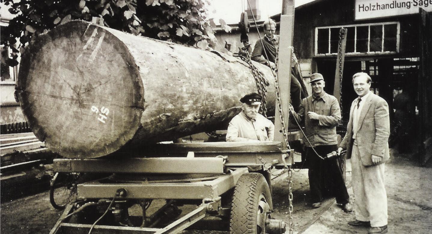 In den 50er-Jahren: Firmenchef Heinrich Wulff (r.) mit den Mitarbeitern Mielke, Franke (l.) und Lütjens (o.) Fotos: pr