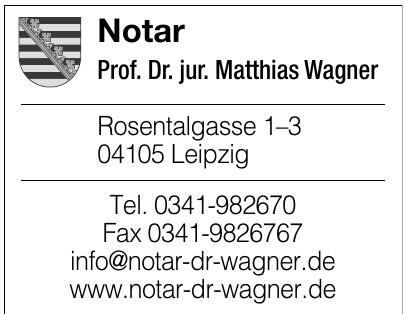 Notar Prof. Dr. jur. Matthias Wagner