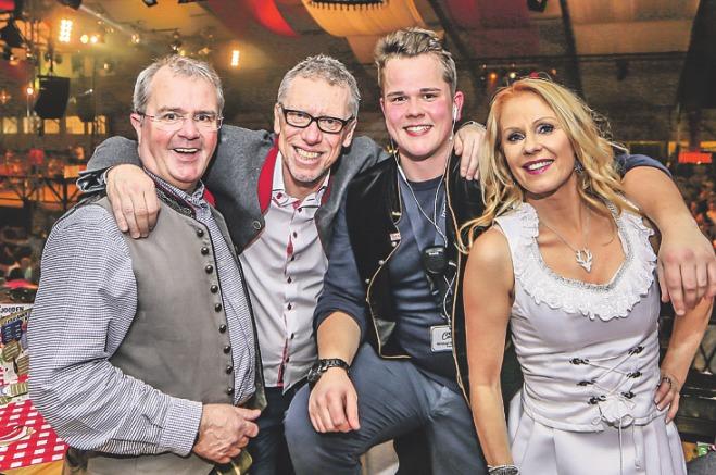 Albert Damaschke, Peter Stöger, Christoph Damaschke und Ulrike Kriegler (v. l.). Foto: D.S. Marketing