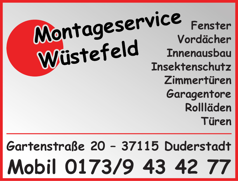 Montageservice Wüstefeld