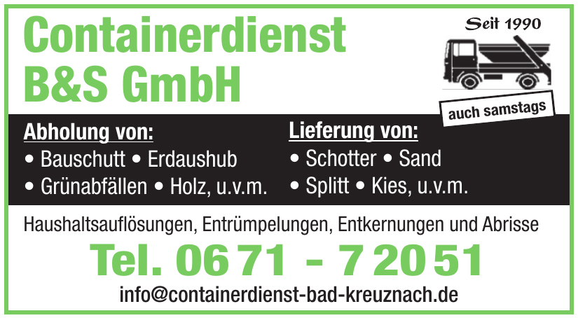 Containerdienst B & S GmbH