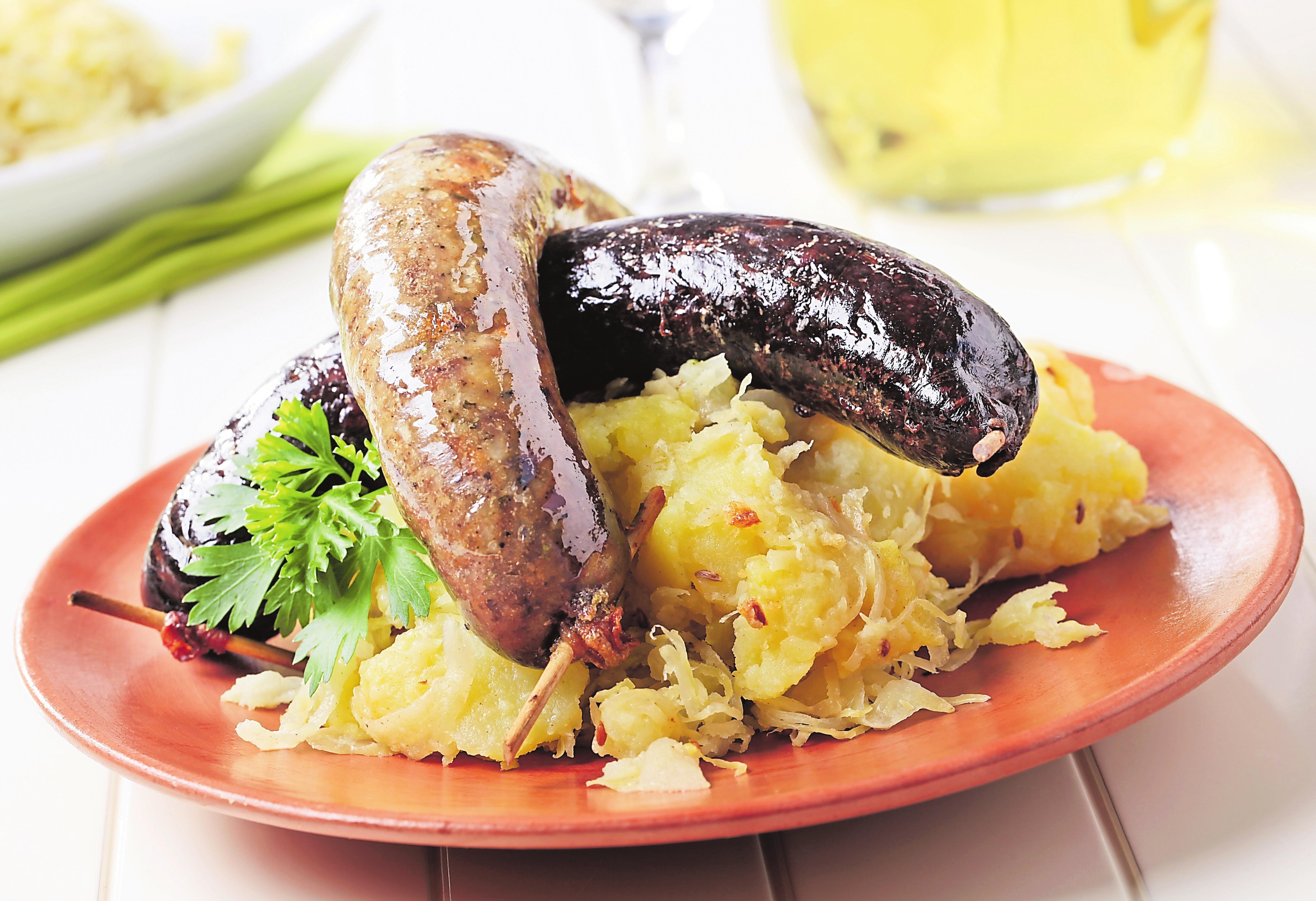 Blutwurst und White Pudding sind etwa in Schottland beliebt.