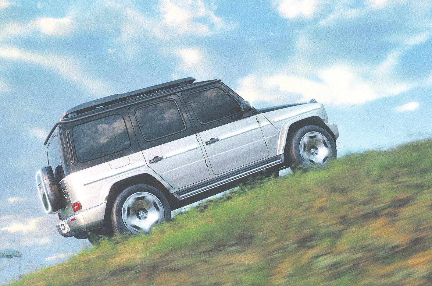 Auf den ersten Blick als Vertreter der G-Klasse von Mercedes-Benz zu erkennen: die vollelektrische, seriennahe Studie Concept EQG