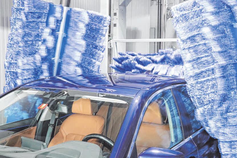 ... das Auto nach Pflegezone und Trockenstation wie frisch poliert aussieht. Fotos: sch