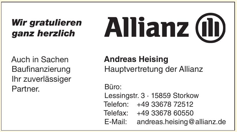 Allianz - Andreas Heising