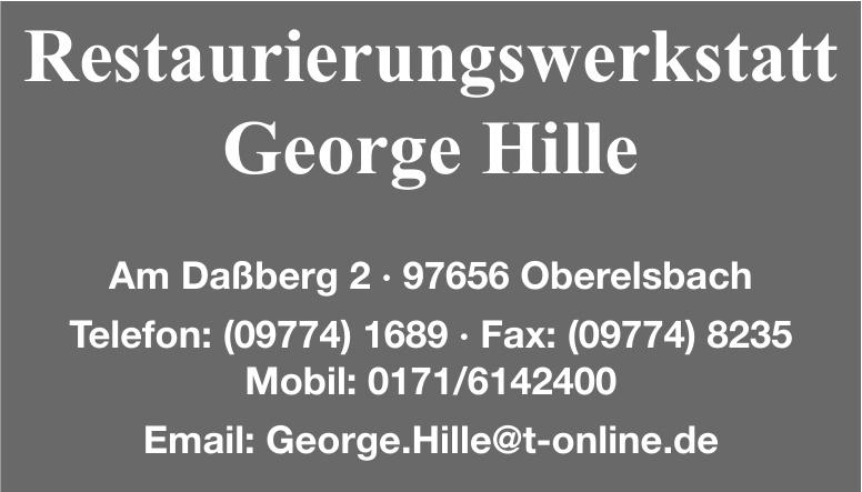Restaurierungswerkstatt George Hille