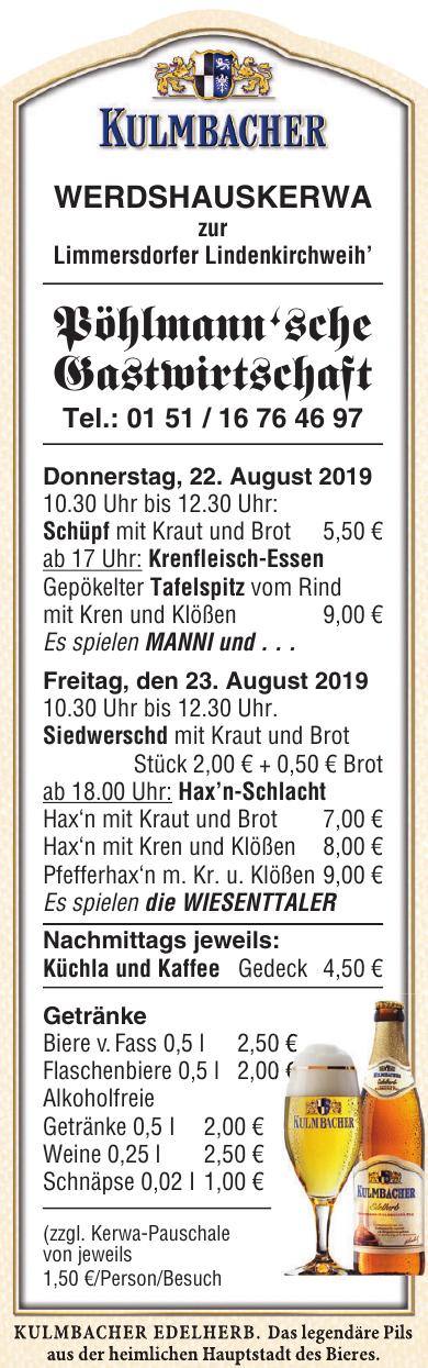 Kulmbacher Edelbier - Pöhlmann'sche Gastwirtschaft