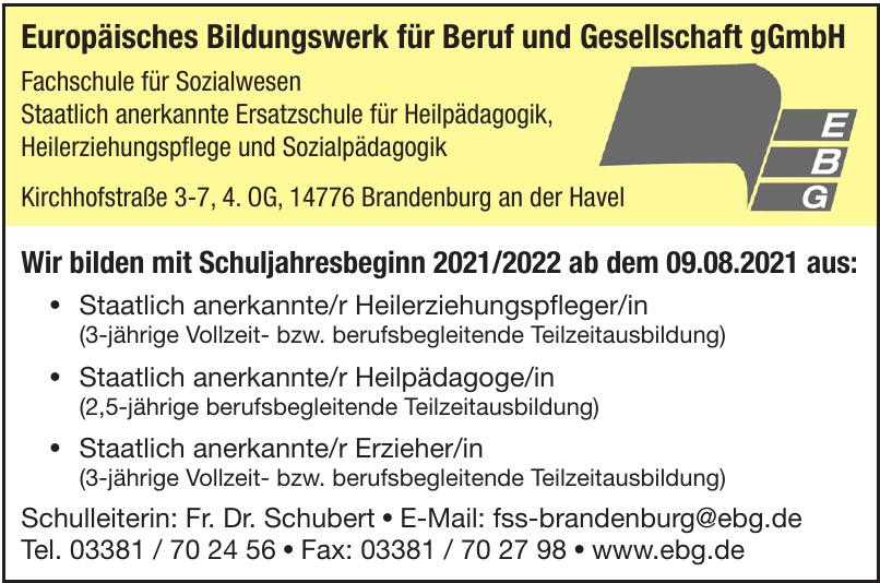 EBG Europäisches Bildungswerk für Beruf und Gesellschaft gGmbH