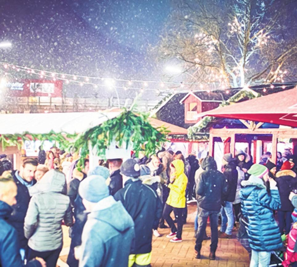 Abends in gemütlicher Runde noch einmal den Tag Revue passieren lassen: Auf dem Barmbeker Weihnachtsmarkt ist das möglich Foto: IG Fuhle