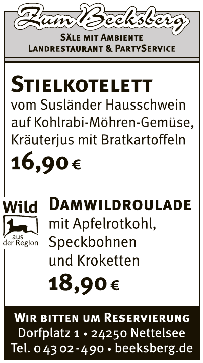 Zum Beeksberg Landesrestaurant & Partyservice