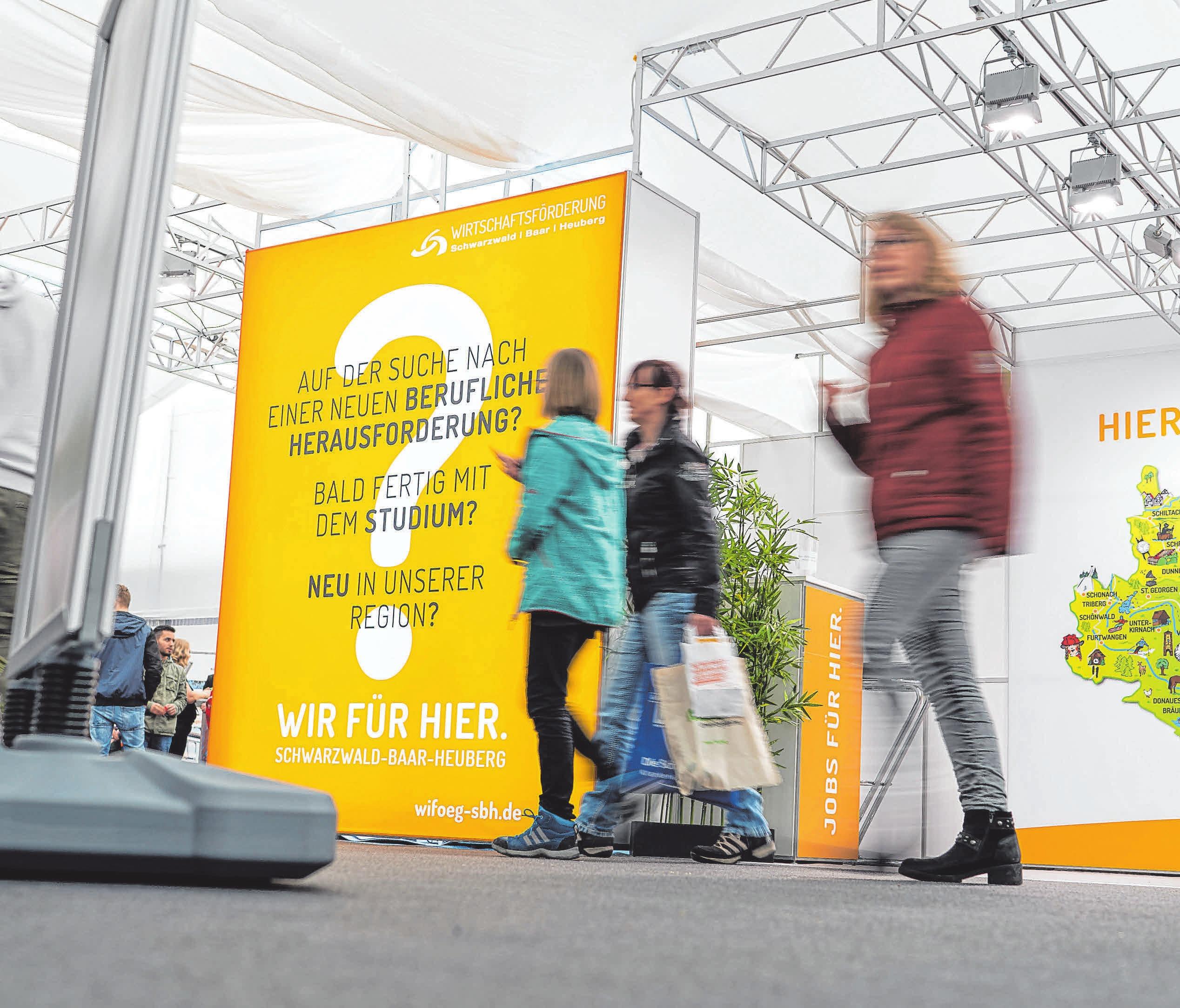 Unternehmen und Fachkräfte zusammen bringen will die Wirtschaftsförderung Schwarzwald-BaarHeuberg und bietet dazu bei der Jobs for Future umfassende Beratung. FOTO: WFÖG