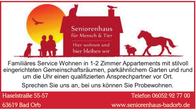 Seniorenhaus für Mensch & Tier