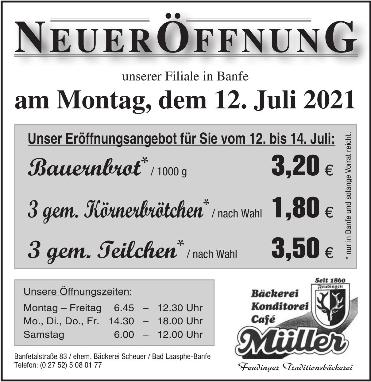 Bäckerei Konditorei Café Müller