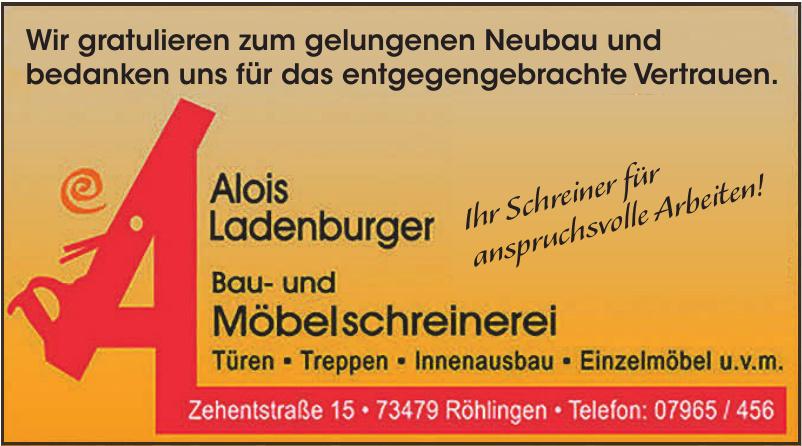 Alois Ladenburger Bau- und Möbelschreinerei
