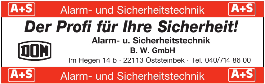 Alarm- u. Sicherheitstechnik B. W. GmbH