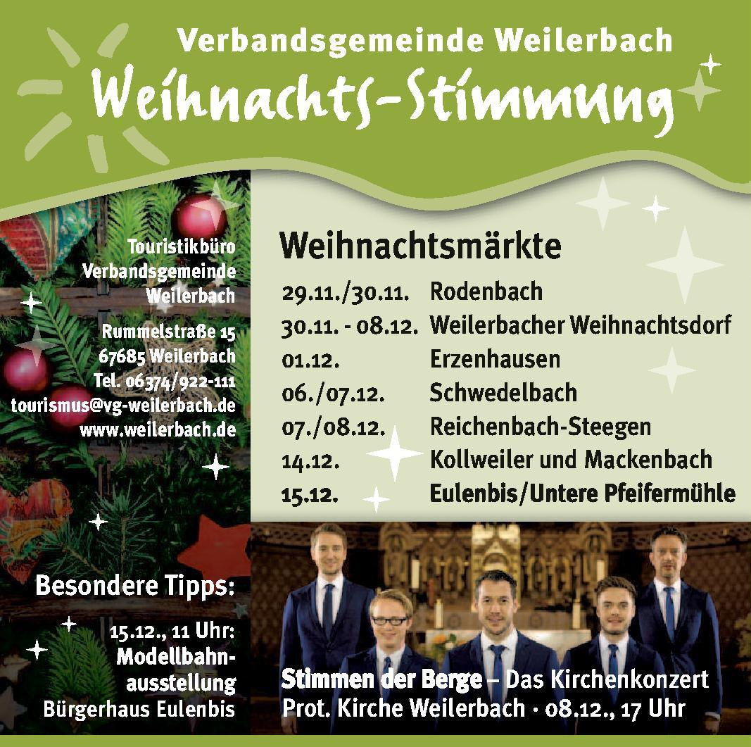 Verbandsgemeinde Weilerbach Weihnachts-Stimmung
