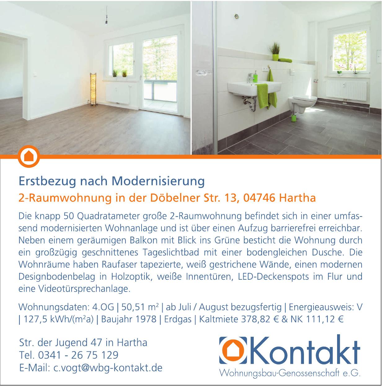 Kontakt Wohnungsbau-Genossenschaft e.G.