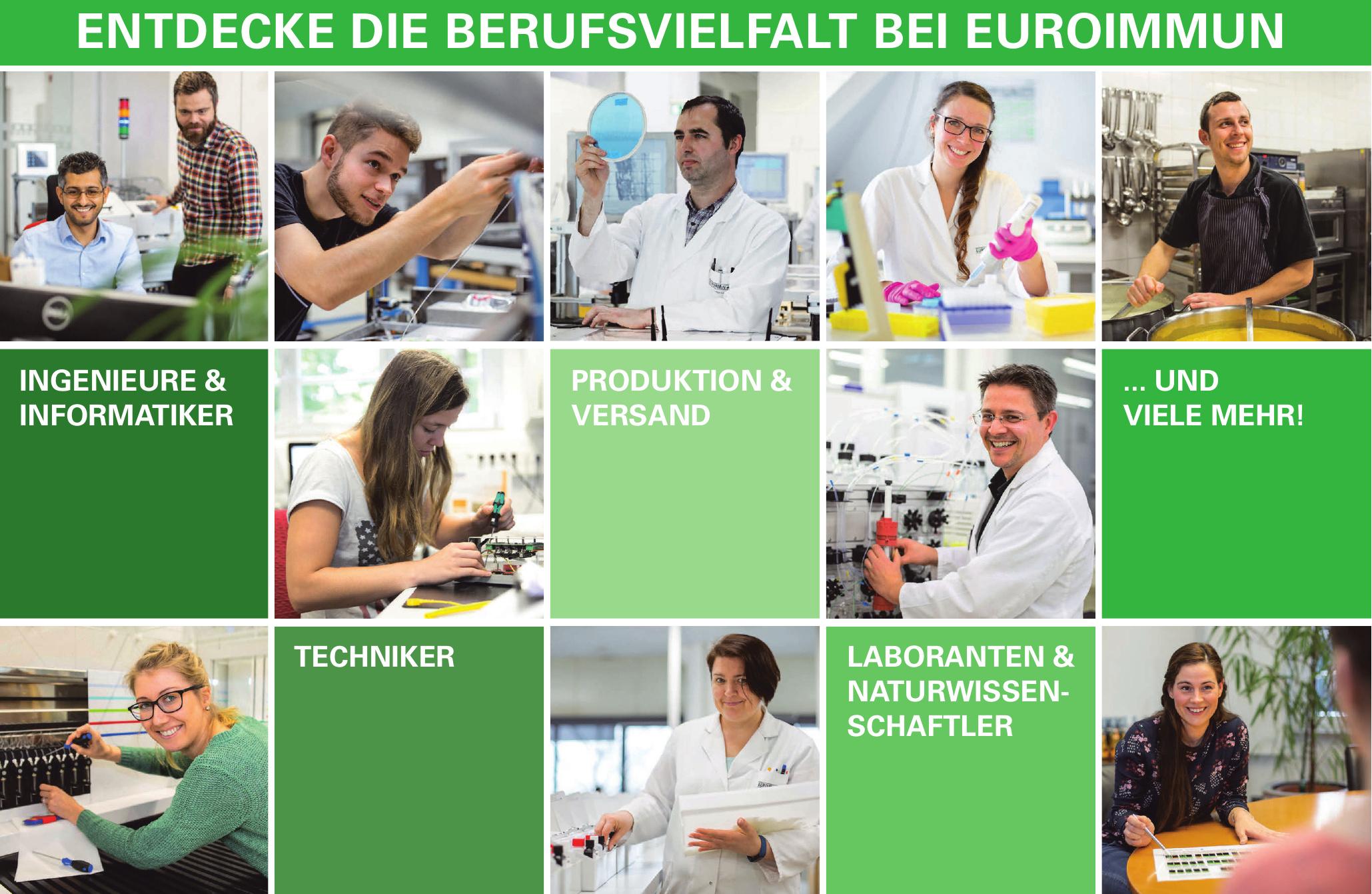 Entdecke die Berufsvielfalt bei Euroimmun